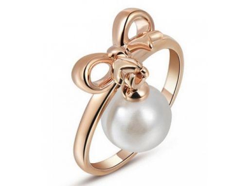 Lux art.pierścionek pokryty 10k złotem