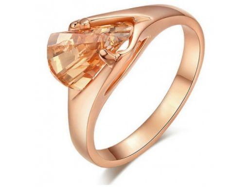 Lux art.pierścionek pozłacany 18k złotem
