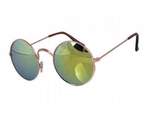Okulary lenonki lustrzanki przeciwsłoneczne revo