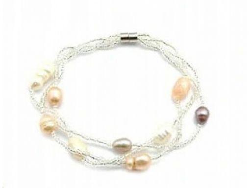 Lux art.bransoletka perła naturalna