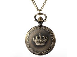 Piękny zegarek kieszonkowy królewski korona 24h pl