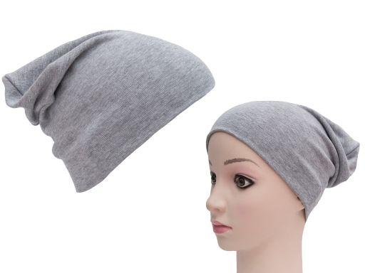 Podwójna czapka dresowa smerfetka bawełniana pl