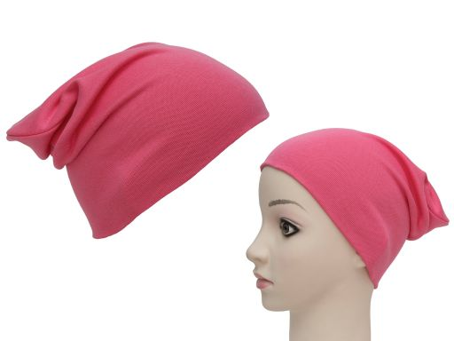 Podwójna czapka dresowa damska bawełniana młodzież