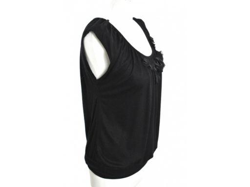 H&m bluzka top damska kwiatki r_xs czarny
