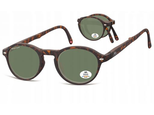 Składane polaryzacyjne okulary unisex lenonki mat