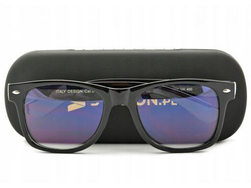 Okulary nerd z filtrem niebieskim do ekranów lcd