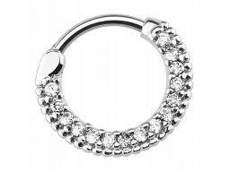 Kolczyk do piercingu z kryształami