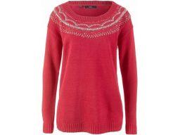 B.p.c sweter bordowy z ozdobami *56/58