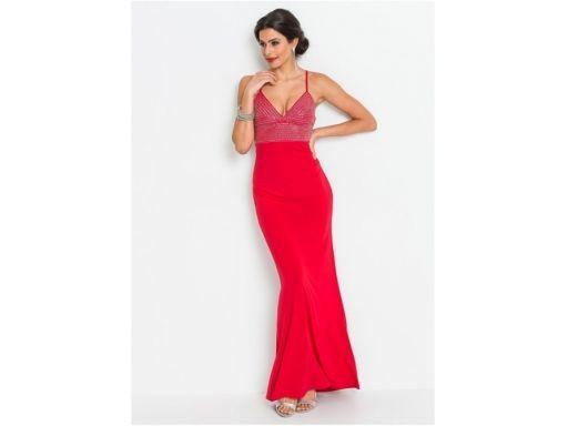 B.p.c czerwona sukienka wieczorowa 40/42.
