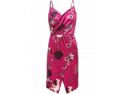 B.p.c piękna aksamitna sukienka w kwiaty r.44/46