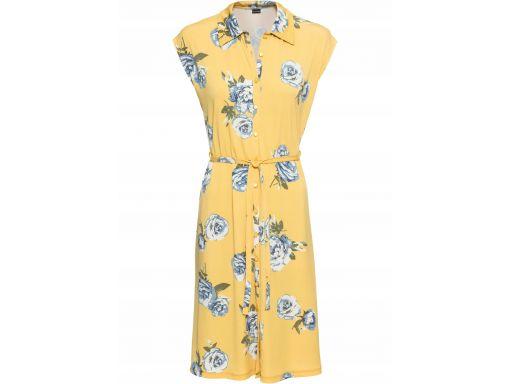 B.p.c żółta sukienka w kwiaty r.36/38