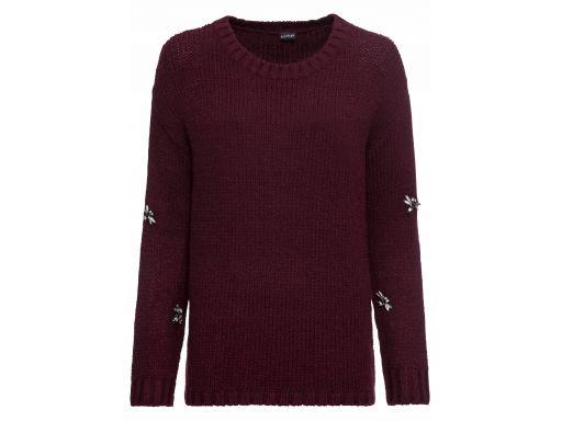 B.p.c bordowy sweter z ważkami r.40/42