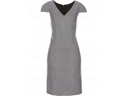 B.p.c sukienka w biało-czarną pepitkę 50.