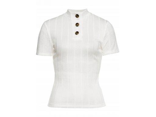 B.p.c biała bluzka dzianinowa z guzikami r.40/42