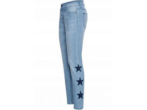 B.p.c jeansy z nadrukiem 40.