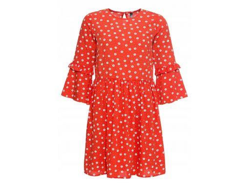 B.p.c sukienka czerwona w kwiatki r.44