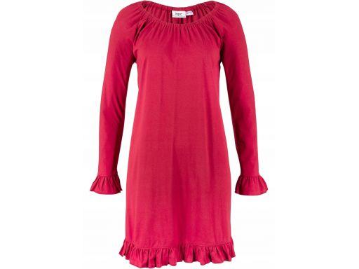 B.p.c czerwona sukienka z falbankami r.44/46