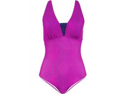 B.p.c strój kąpielowy różowo- czarny 46 (90d)