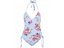 B.p.c strój kąpielowy w kwiaty wiązany na szyi 42