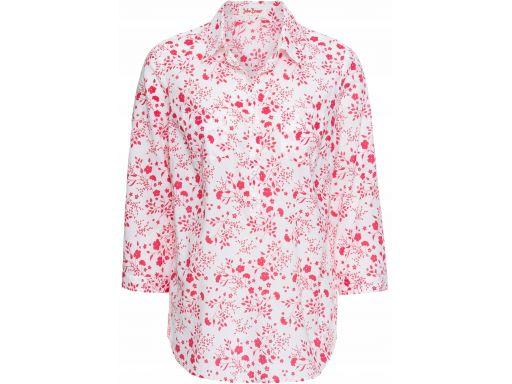 B.p.c biało-czerwona bluzka w kwiaty r.40