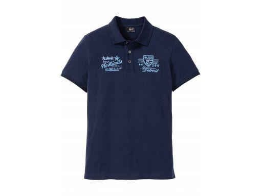B.p.c męska koszulka polo z nadrukiem r.m