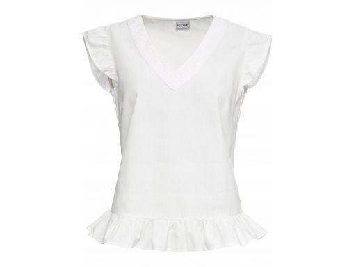 B.p.c bluzka biała z falbanką r.48