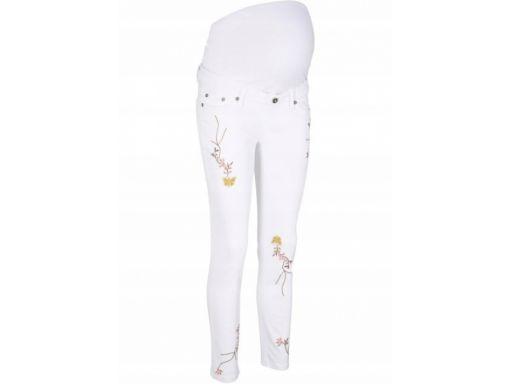 B.p.c letnie jeansy ciążowe z haftem r.50