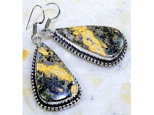 Lux art.kolczyki z kamieni srebro 925