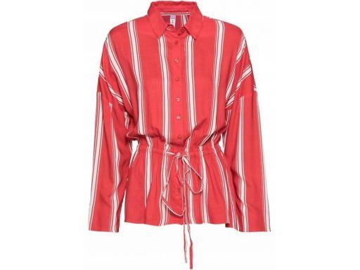B.p.c koszula czerwona w białe paski 44.