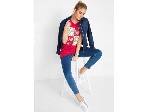 B.p.c długa bluzka t-shirt w kwiaty *48/50