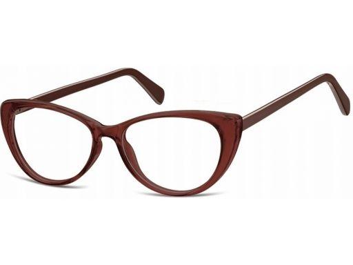 Oprawki zerówki okulary kocie oczy damskie flex