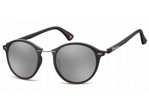 Okragłe okulary damskie lustrzane przeciwsłoneczne
