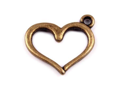 Zawieszka na szyję rękę do kluczy serce zło srebr