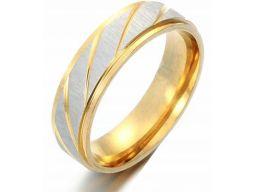 Srebrna złota matowa obrączka sygnet pierścień 6mm