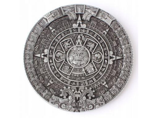 Srebrna klamra do paska majowie kalendarz majów