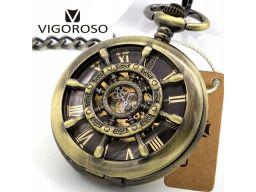 Mechaniczny zegarek kieszonkowy żeglarski ster