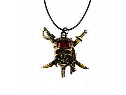 Naszyjnik pirat trupia czaszka piraci z karaibów 2