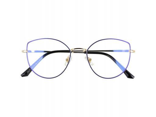 Okulary z filtrem niebieskim do ekranów lcd kocie