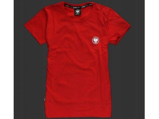 Koszulka patriotyczna damska - orzeł (czerwona) l