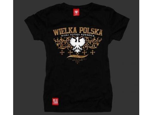 Koszulka patriotyczna damska wielka polska (czarna