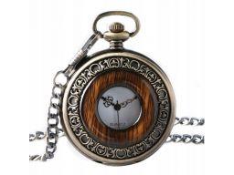 Piękny zegarek kieszonkowy drewno 24h pl