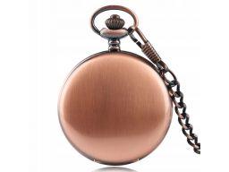 Piękny zegarek kieszonkowy miedź miedziany 24h pl