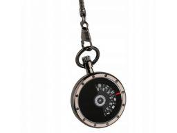 Futurystyczny zegarek kieszonkowy grafitowy #1