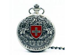 Mechaniczny zegarek kieszonkowy szwajcarski krzyż