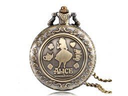 Zegarek kieszonkowy alicja w krainie czarów