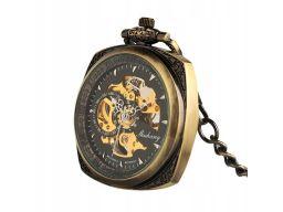 Mechaniczny zegarek kieszonkowy kwadratowy #1
