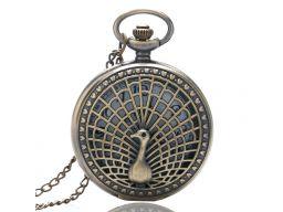 Piękny zegarek kieszonkowy paw