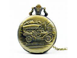 Piękny zegarek kieszonkowy mercedes 1903 automobil