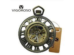 Mechaniczny zegarek kieszonkowy szkielet vigoroso