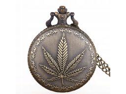 Zegarek kieszonkowy marihuana konopia indyjska